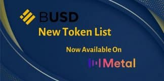Metal Pay Announces Listing of Binance USD