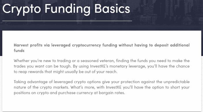InvestXE Crypto Funding Basics