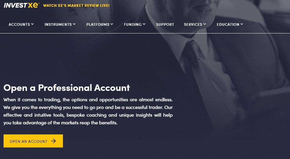 InvestXE Professional Account